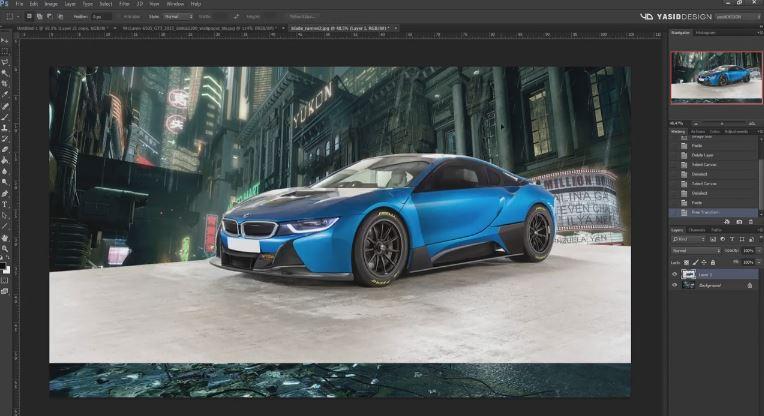 BMW i8 Blade Runner themed