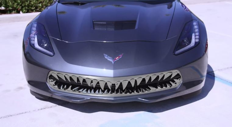 Chevrolet Corvette Stingray with shark teeth grille