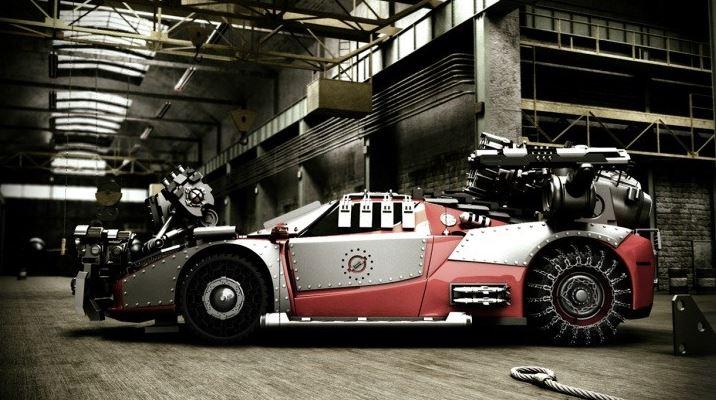 Post apocalypse Ferrari Enzo