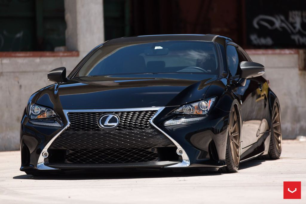 Lexus RC F Sport Bagging Treatment from Vossen Wheels, Video Exposed