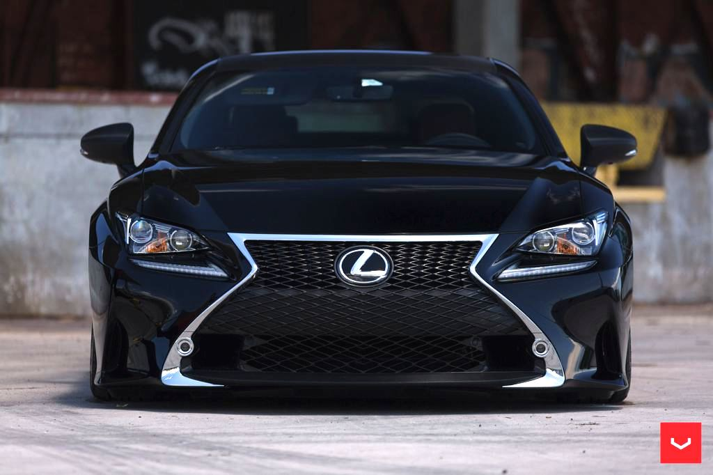 lexus rc f sport bagging treatment from vossen wheels video exposed carz tuning. Black Bedroom Furniture Sets. Home Design Ideas