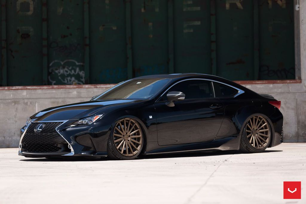 lexus rc f sport bagging treatment from vossen wheels. Black Bedroom Furniture Sets. Home Design Ideas