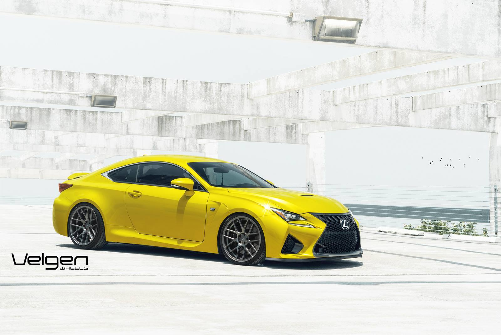 Lexus RC F Sits on Velgen Wheels