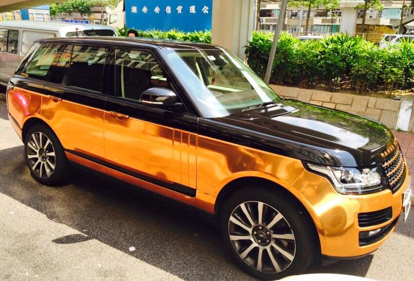 Copper Rose Range Rover Sport By Impressive Wrap Carz Tuning