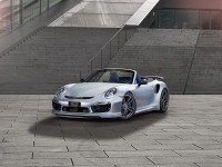 Blue Porsche 991 Turbo S Cabrio by Techart