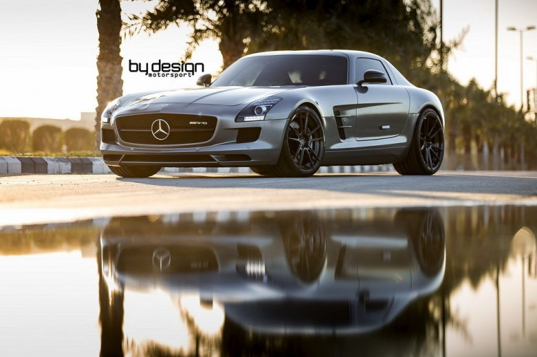 ByDesign Mercedes SLS with Cool ADV.1 Wheels