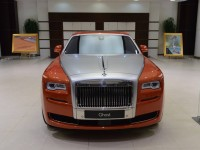 Orange Metallic Rolls-Royce Ghost Showcased at BMW Abu Dhabi
