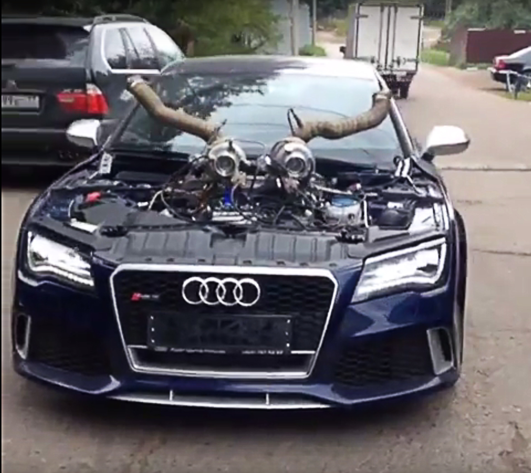 The Most Insane Audi Rs7 Comes From Russia Carz Tuning