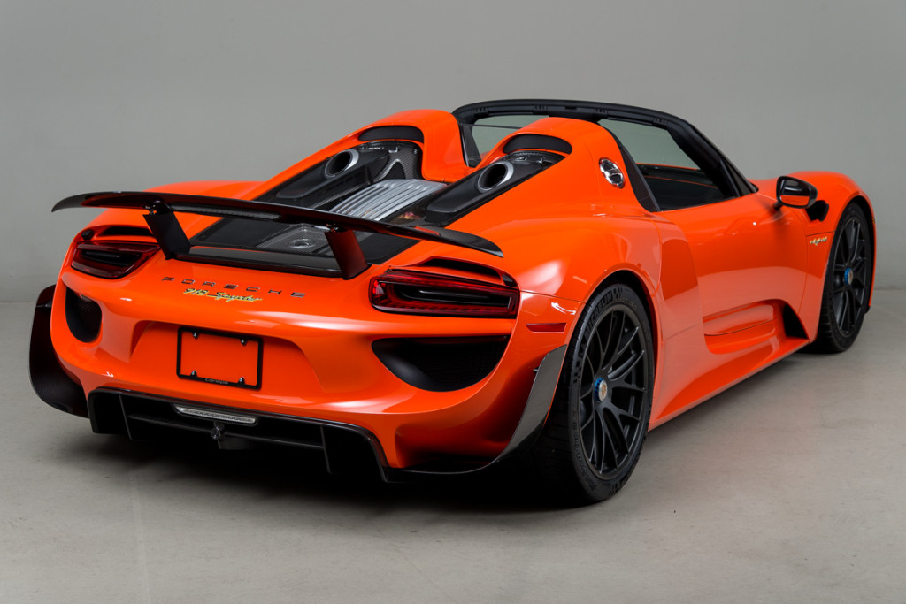 continental orange porsche 918 with weissach package looks. Black Bedroom Furniture Sets. Home Design Ideas