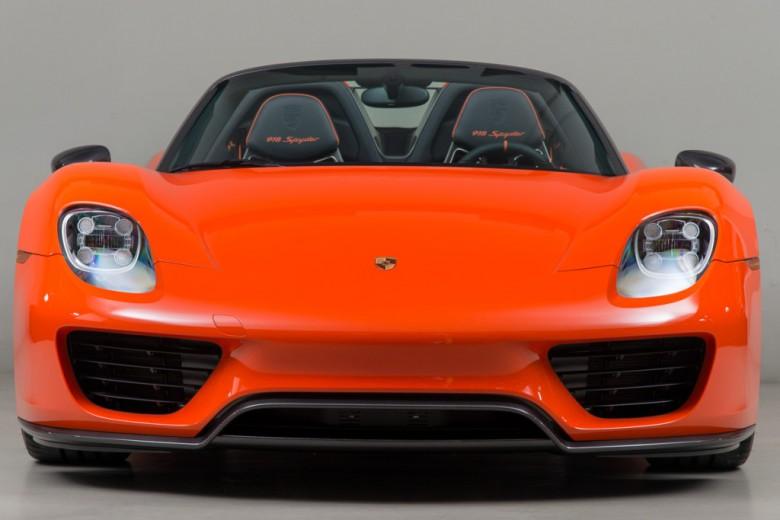 Continental Orange Porsche 918 with Weissach Package Looks Exotic