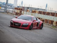 Liberty Walk Audi R8 Sits on Forgiato Wheels, Installation by LB-Performance