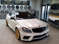 Mercedes-Benz C-Coupe 350 Wears Magnificent Black Series Kit by Prior Design