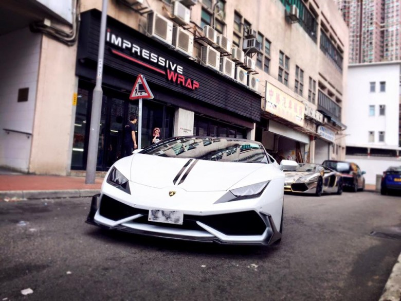 Lamborghini Huracan with DMC Carbon Fiber Kit by Impressive Wrap