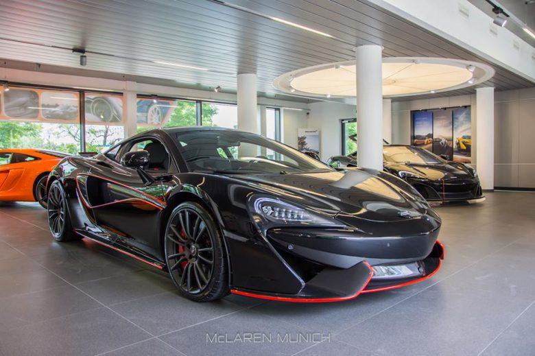 McLaren 570S in Onyx Black Displayed in Munich Dealership