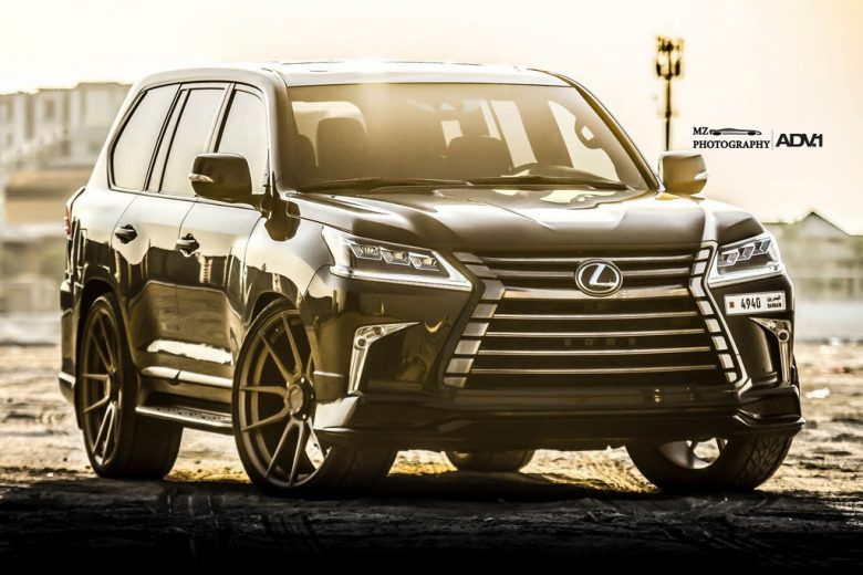 Lexus LX570 on ADV.1 Wheels Is Extremely Aggressive