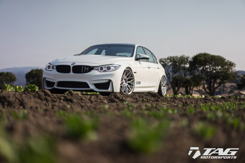 BMW M3 with Alpine White Wrap Fits HRE Wheels