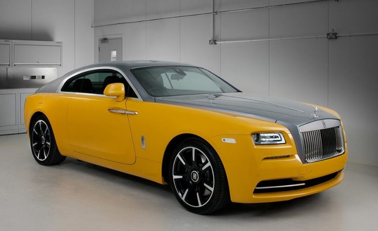 Bespoke Yellow Rolls-Wraith Is a Real Eye-Catcher