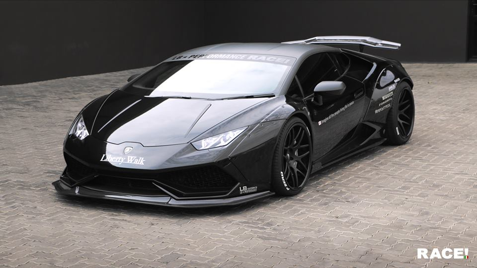 lamborghini huracan with lb kit by race carz tuning. Black Bedroom Furniture Sets. Home Design Ideas