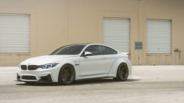 BMW M4 Sits on ADV1 Wheels, Looks Pretty Menacing with the Liberty Walk Kit