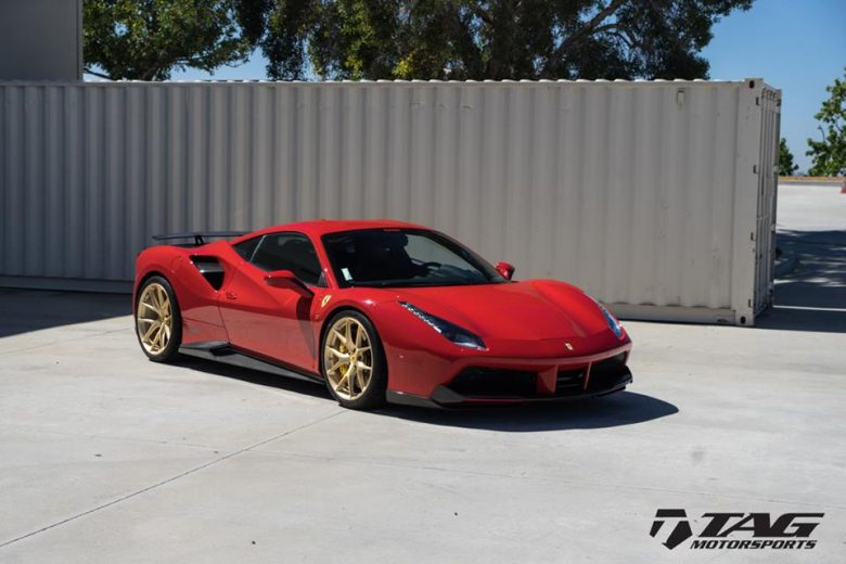 Novitec Rosso Ferrari 488 GTB Looks Gorgeous with the Carbon Aero Kit, Installation by TAG Motorsports