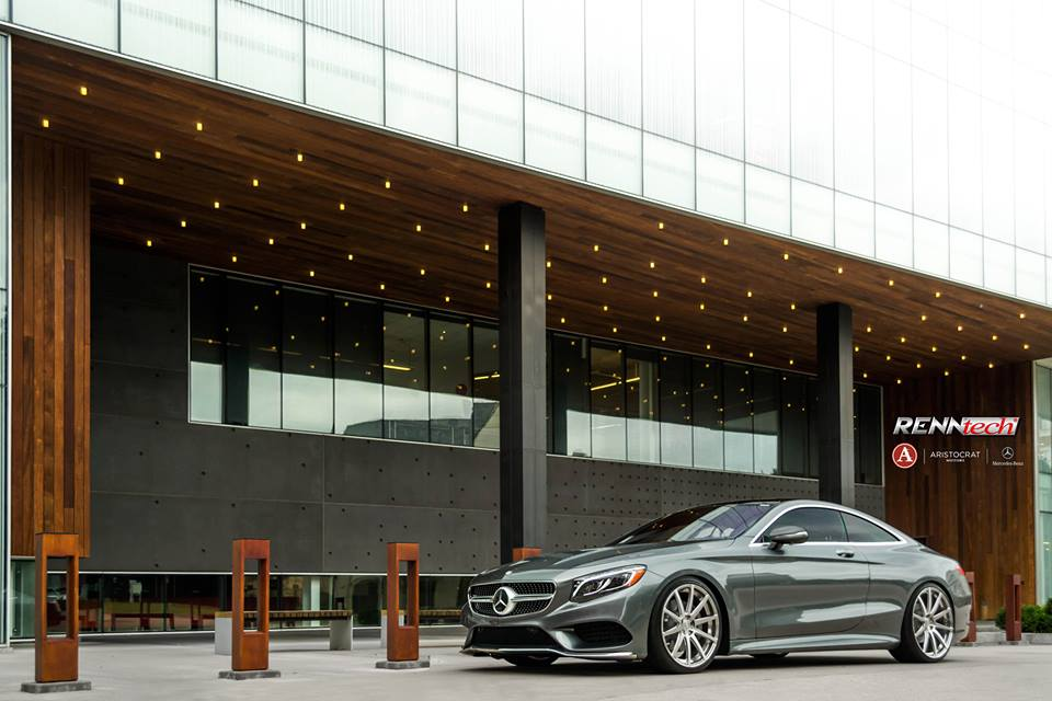 Mercedes s550 coupe with renntech wheels is a real for Aristocrat motors mercedes benz