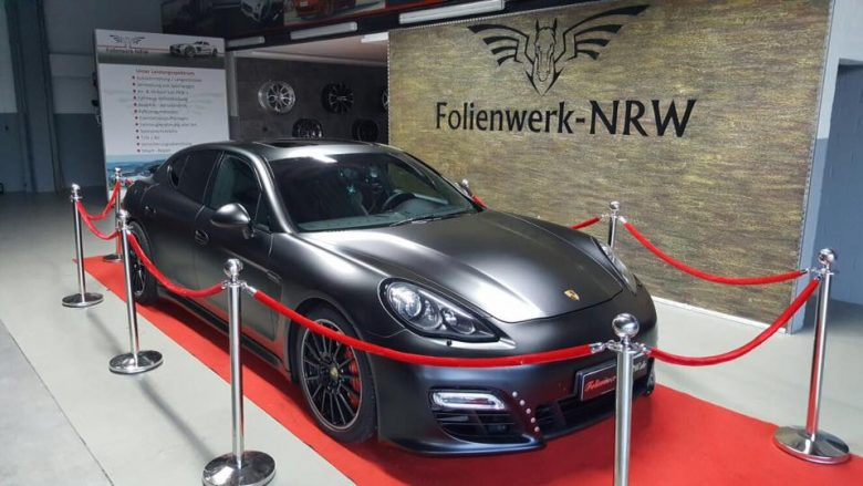 Porsche Panamera GTS in Matte Black Gets Fine-Tuning from Folienwerk-NRW