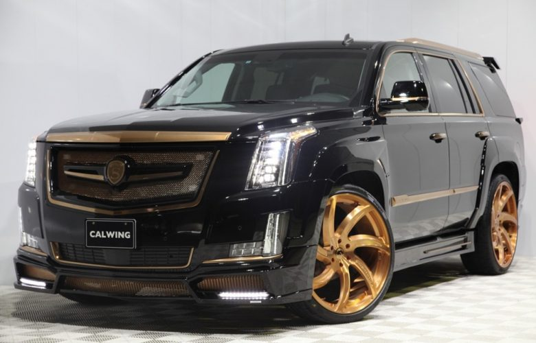 Cadillac Escalade by Calwing Is a Real Standout with Gold Aero Kit