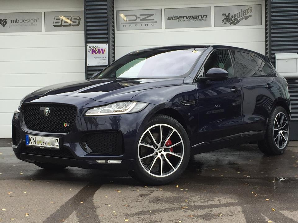 jaguar f pace with new exhaust courtesy of tvw car design. Black Bedroom Furniture Sets. Home Design Ideas