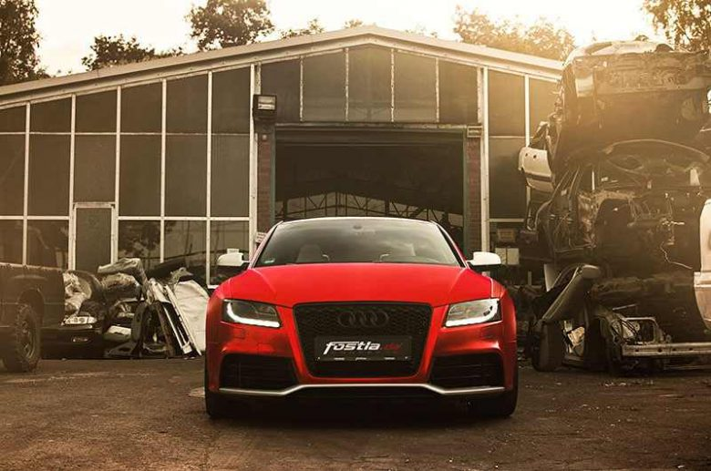 Audi RS5 by Fostla / PP-Performance Looks Smart in Chrome Red
