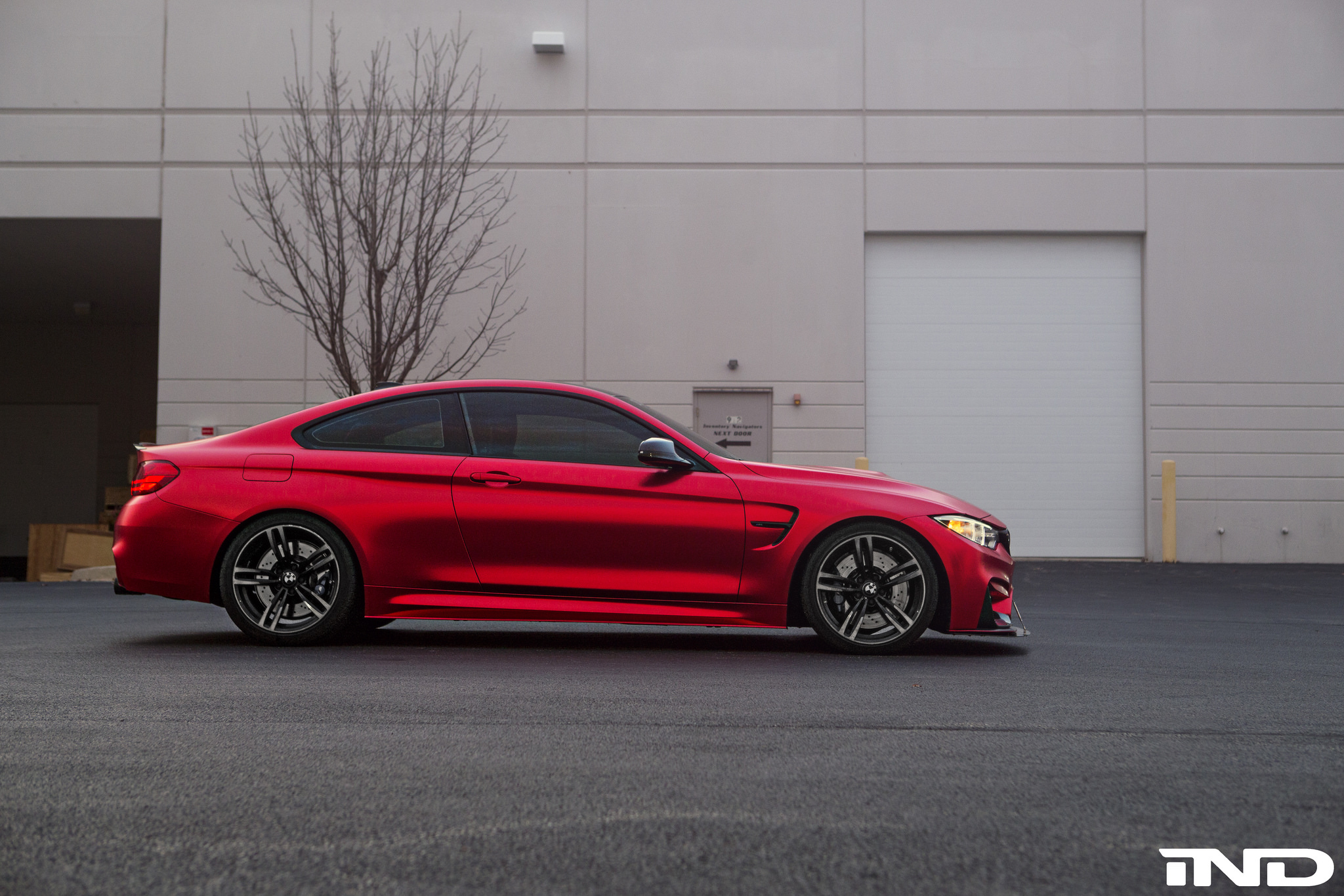 matte red bmw m4 by ind is mind blowing carz tuning. Black Bedroom Furniture Sets. Home Design Ideas