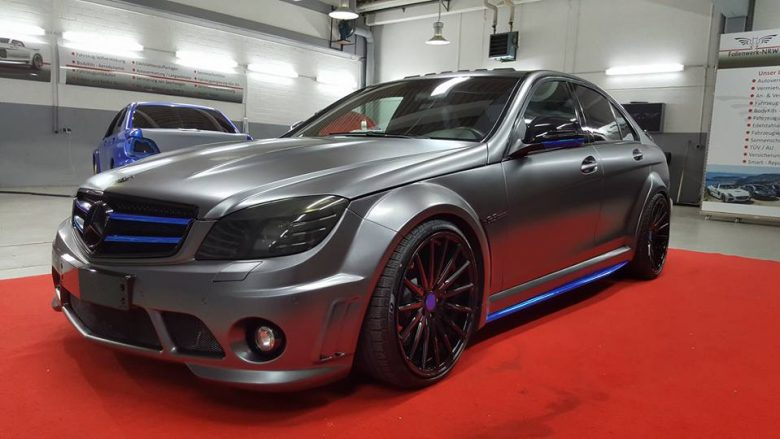 Mercedes-AMG C63 with Prior Design Kit, Installation by Folienwerk-NRW