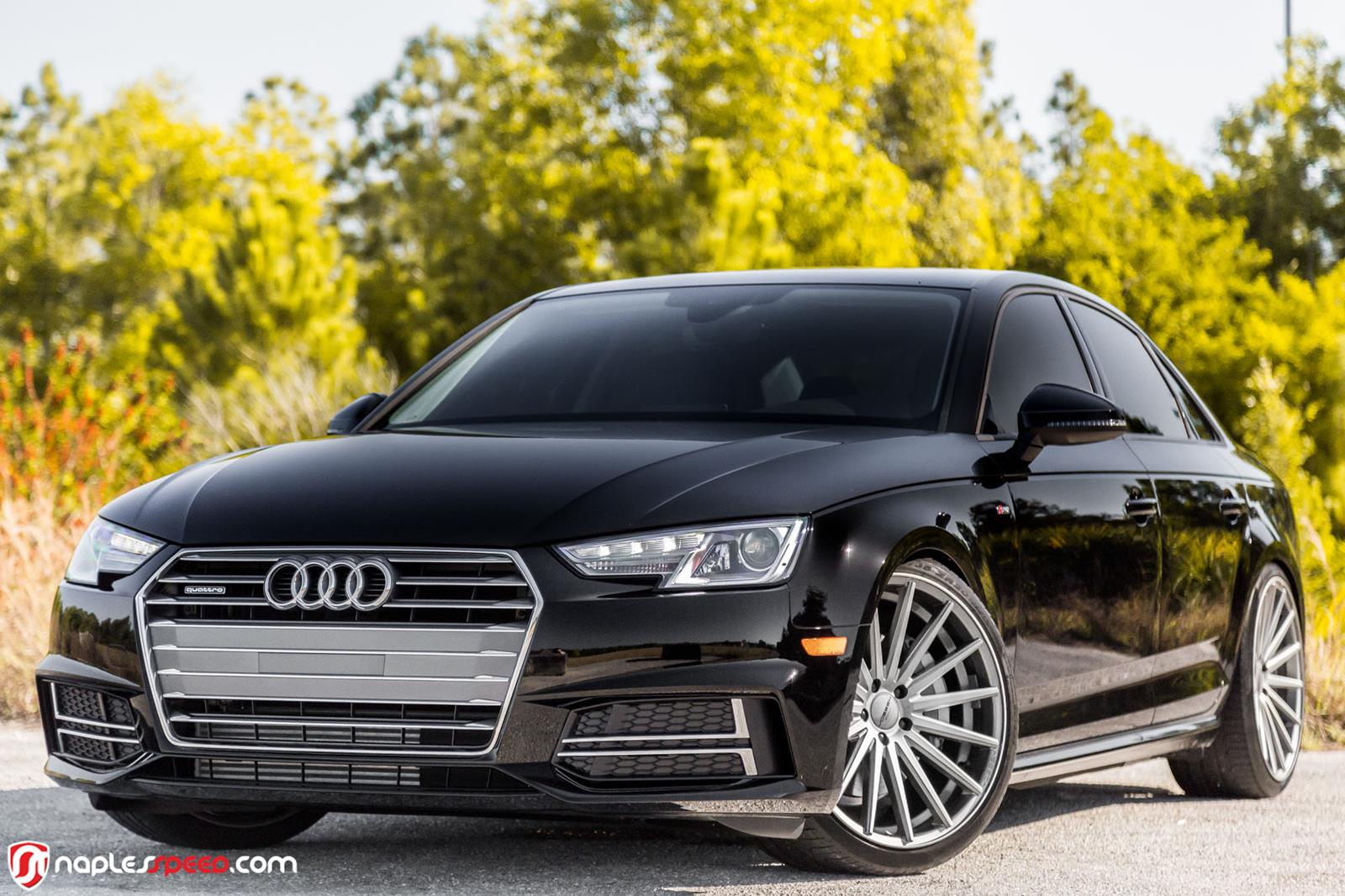 2017 audi a4 rides on vossen wheels looks extremely hot carz tuning. Black Bedroom Furniture Sets. Home Design Ideas