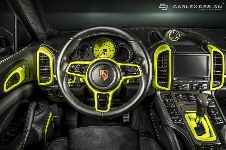New Porsche Cayenne with Interior Tweaks from Carlex Design