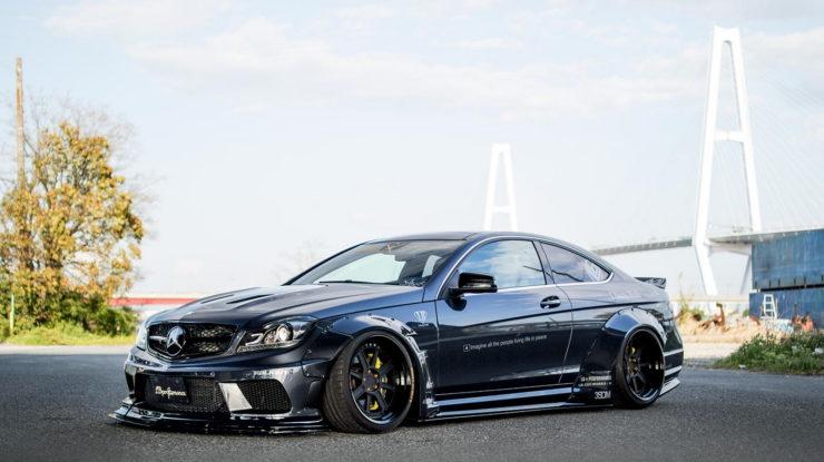 This Liberty Walks` Take on Mercedes-AMG C63 Sedan & Coupe