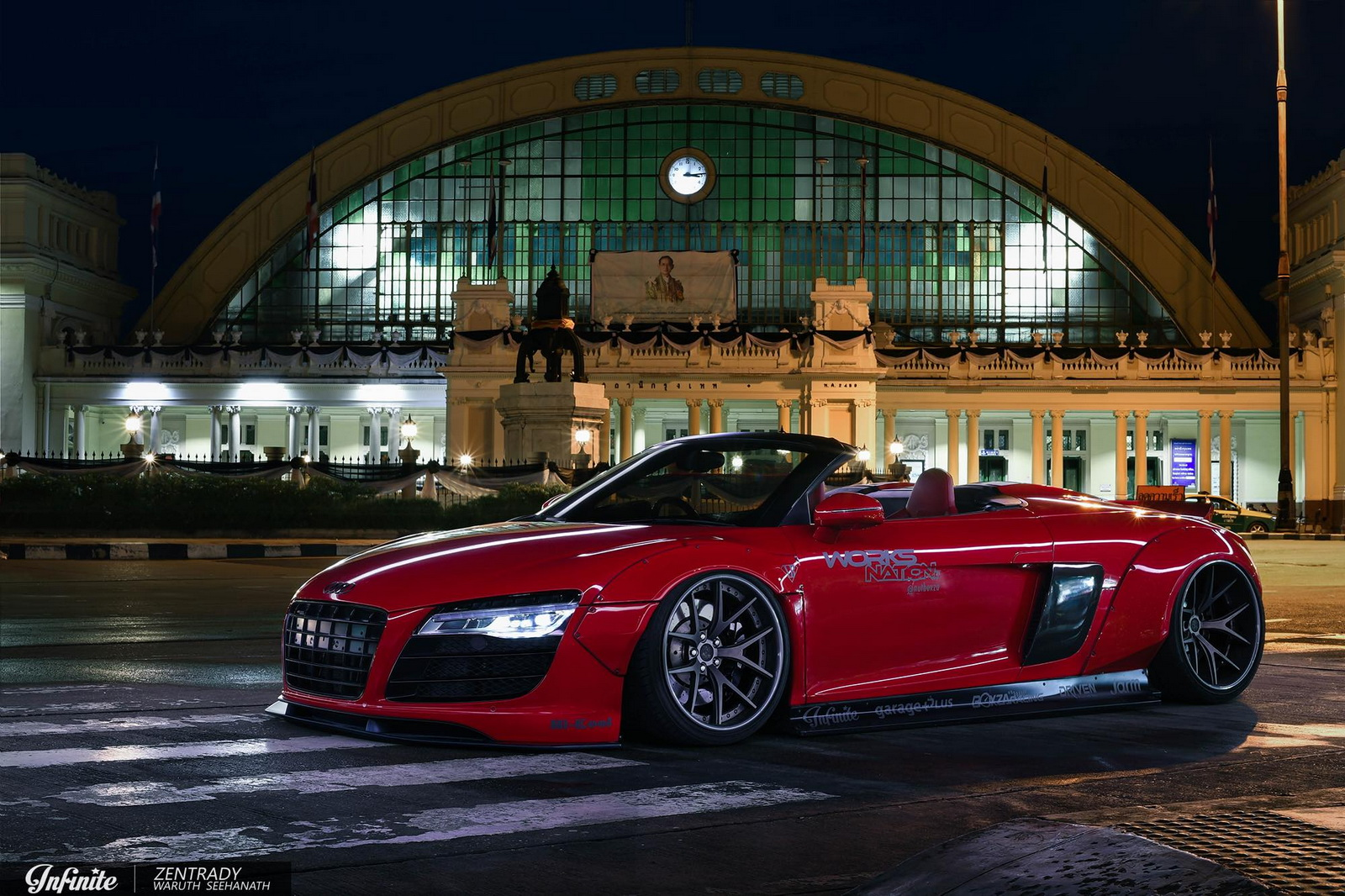 Audi R8 Spyder With Wide Body Kit And One Off Purr Wheels