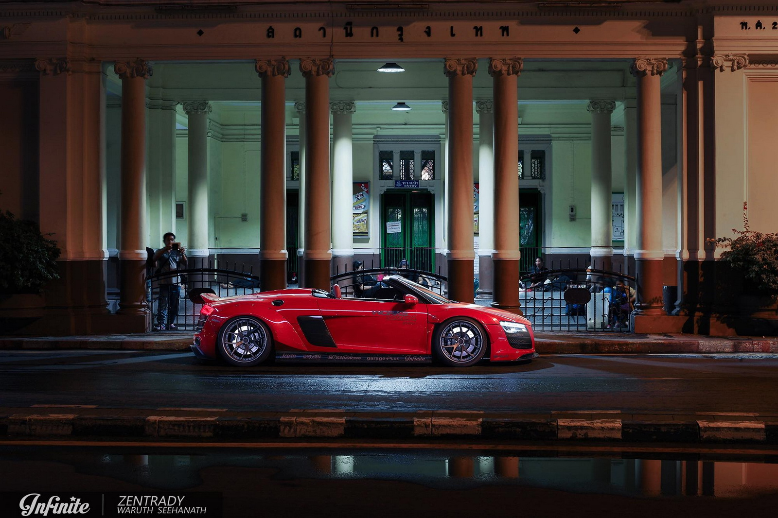 Audi R8 Spyder with Wide Body Kit and One-Off PURR Wheels