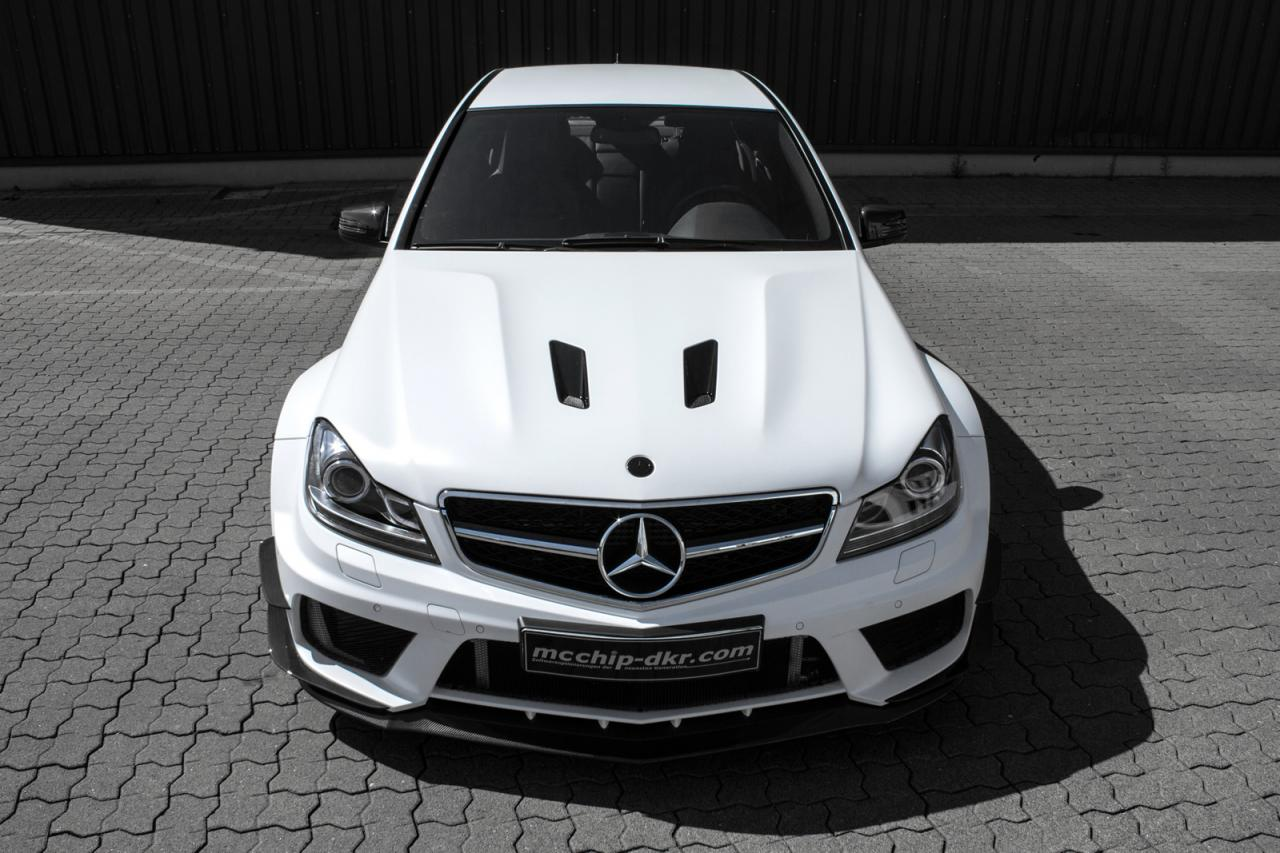 Mercedes C63 AMG tuned by mcchip-dkr