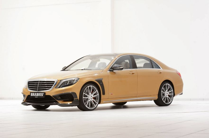 Golden Mercedes S63 AMG by Brabus