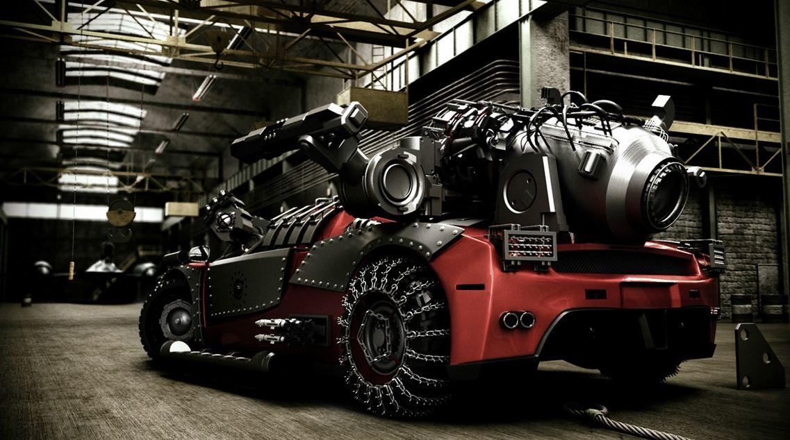 Ferrari Enzo apocalypse rendering