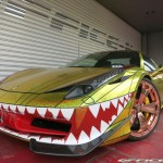 Ferrari 458 Spider Golden Shark by Office-K