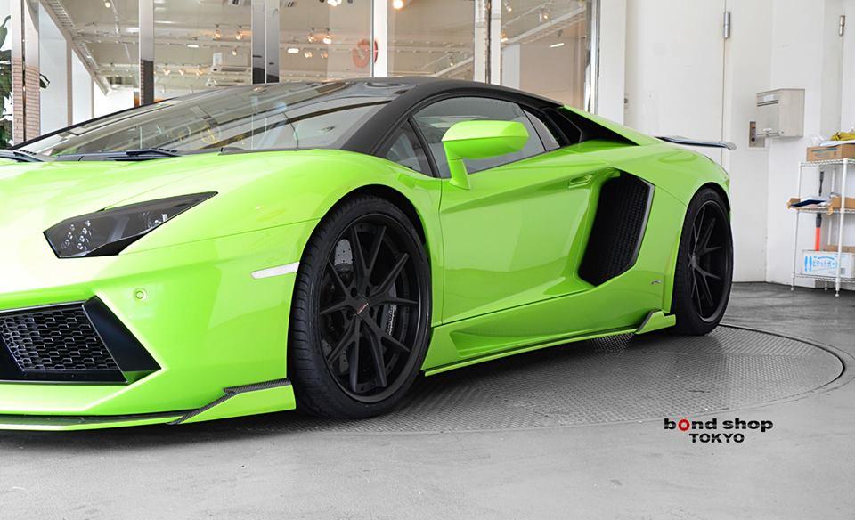 Verde Ithaca Lamborghini Aventador by HyperForged