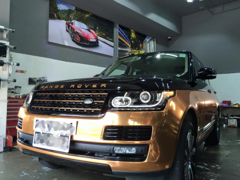 Copper Rose Range Rover Sport by Impressive Wrap