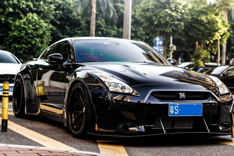 Blacked-Out Nissan GT-R by Liberty Walk