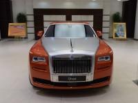 Orange Metallic Rolls-Royce Ghost Showcased at BMW Abu Dhabi