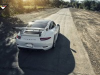 Porsche 911 with Vorsteiner`s Adjustable V-GTX Rear Wing