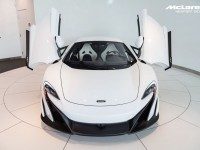 Silica White McLaren 675LT Pops-Up in Newport Beach