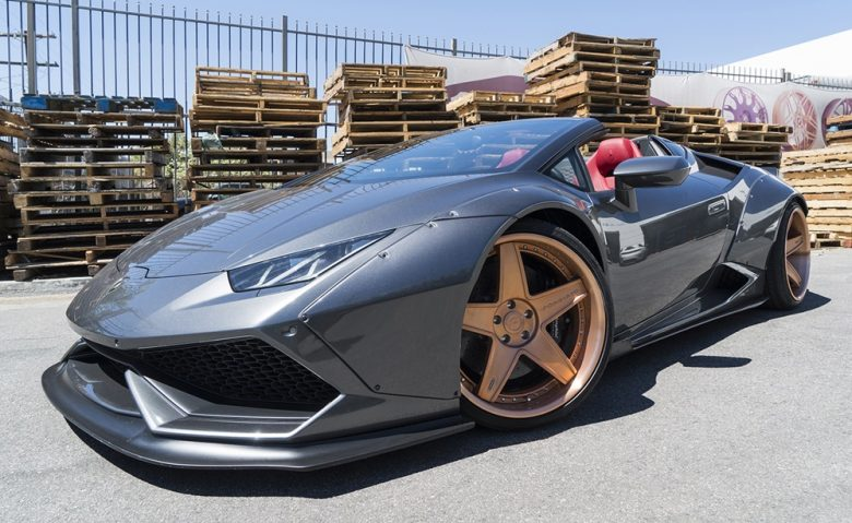 Liberty Walk Lamborghini Huracan Spyder Sits on Massive Forgiato Wheels