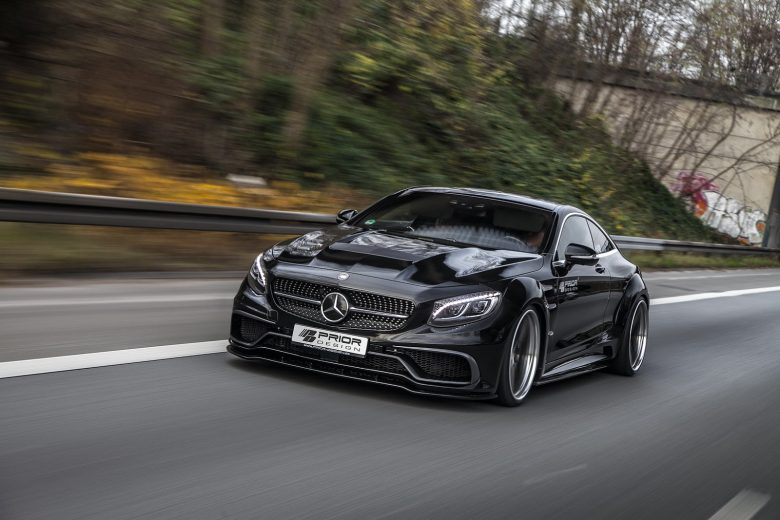 Mercedes-Benz S-Class Coupe with Prior Design Aero Package