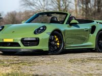 This Is Edo Competition`s Greenish Porsche 911 Turbo S Cabrio