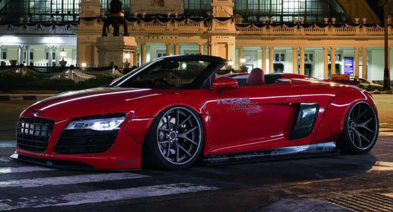 Audi R8 Spyder with Wide Body Kit and One-Off PURR Wheels, Installation by Infinite Motorsport